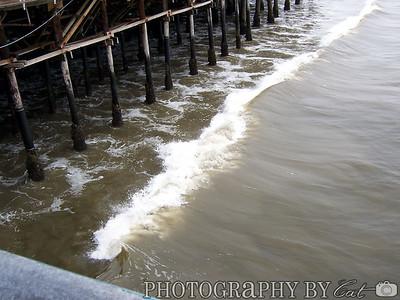 Water at Santa Monica pier