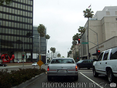 Driving down Wilshire on the way to Beverly Hills / Hollywood