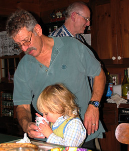 Uncle Bob giving milk to Zachary.