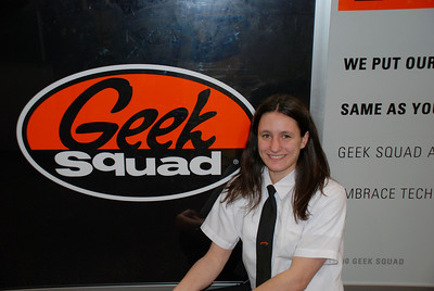 Alicia took this pic of me on January 31st, 2007 to use in the store newsletter because I was the Holiday Hero for the Extreme Team (Geek Squad & Computers)