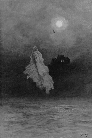 Get thee back into the tempest and the Night's Plutonian shore!<br /> <br /> The Raven / by Edgar Allan Poe ; illustrated by Gustave Doré, 1884