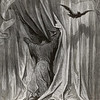Nevermore.<br /> <br /> The Raven / by Edgar Allan Poe ; illustrated by Gustave Doré, 1884