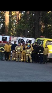 The 17 Humboldt County firefighters who are providing mutual aid at the Camp Fire n Butte County.  (Kent Hulbert -- Contributed)
