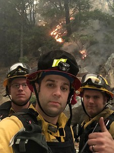 Three Arcata Fire District firefighters were dispatched to assist with the Camp Fire in Butte County. (Arcata Fire District - Contributed)