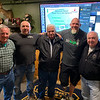 From left, Neil Hickey, Guy L. Constantine and Coast Guard veteran Ray Ledoux, all of Tyngsboro, Steve Chamberland of Tampa, Fla., and Coast Guard veteran Roger Durand of Tyngsboro