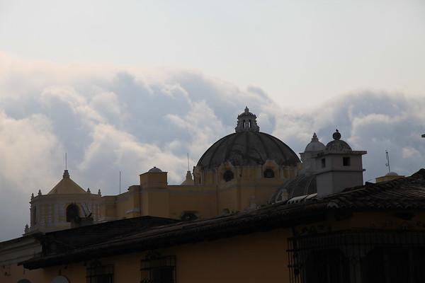 Widok z dachu naszego hoteliku