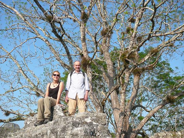 Marta i Olek w Tikal
