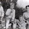 Chester, Bill, Ewart Swinyard with their Mother. Photo taken by father William Swinyard.