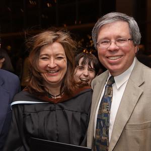 Gwen and Bill - plus Scott - Gwen Howard Kean U graduation Masters Education May 11 2010 NJ Performing Arts Center
