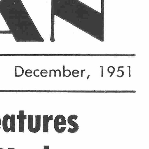 December 1951, p. 1