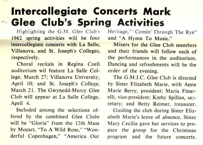 Intercollegiate Concerts Mark Glee Club's Spring Activities