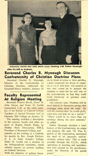 Reverend Charles B. Mynaugh Discusses Confraternity of Christian Doctrine Plans