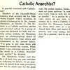 Catholic Anarchist?