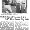 Students Present St. Joan of Arc. G.M.'s First Masque, May 16-19