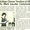 Valleps Choose 'Smallest of All' To Mark Lourdes Centennial