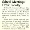 School Meetings Draw Faculty