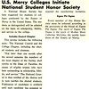 U.S. Mercy Colleges initiate National Student Honor Society