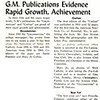 G.M. Publications Evidence Rapid Growth, Achievement