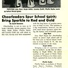 Cheerleaders Spur School Spirit; Bring Sparkle to Red and Gold