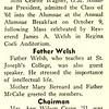 Grad Gossip Father Welsh Talks At Alum. Breakfast