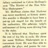 Monsignor Leo Fink Talks on Shakespeare