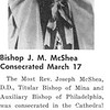 Bishop J. M. McShea Consecrated March 17