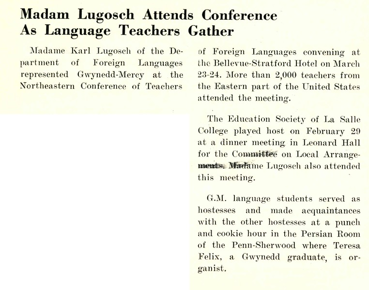 Madam Lugosch Attends Conference As Language Teachers Gather