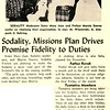Sodality, Missions Plan Drives Promise Fidelity to Duties