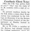 Health Department Conducts Chest X-ray