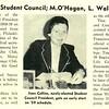 J. Collins Heads Student Council; M.O'Hagan, L. Walker Lead NFCCS