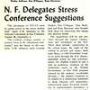 N. F. Delegates Stress Conference Suggestions