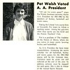 Pat Walsh Voted A. A. President