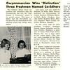 Gwynmmercian Wins Distinction' Three Freshmen Named Co-Editors