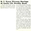 N. F. Group Discusses Marriage At Family-Life Monthly Meets