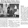 Mrs. J. Northrop Directs Fashion Show; Twenty Gwyn-Eds Model at Card Party
