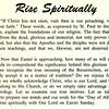Rise Spiritually