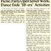 Picnic, Party Open Senior Week; Dance Ends '59-ers' Activities