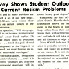 Survey Shows Student Outlook On Current Racism Problems