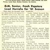 G.M. Senior, Frosh Pepsters Lead Hurrahs for '61 Season