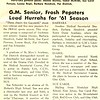 G.M. Senior, Frosh Pepsters Lead Hurrahs for '61 Season