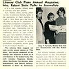 Club News Literary Club Plans Annual Magazine; Mrs. Robert Stein Talks to Journalists