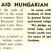 STUDENTS AID HUNGARIAN YOUTH
