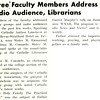 Three Faculty Members Address Radio Audience, Librarians