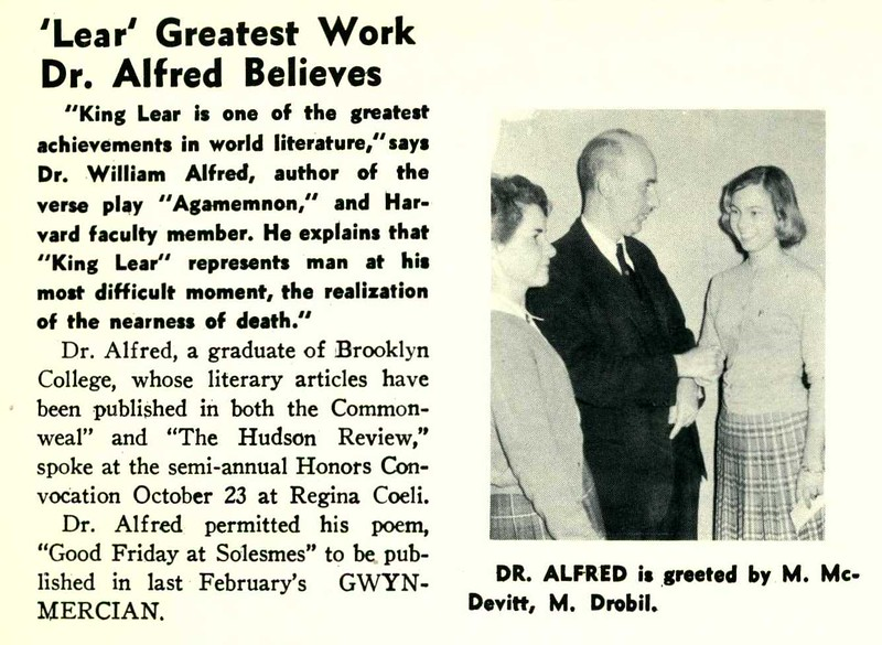 'Lear' Greatest Work Dr. Alfred Believes
