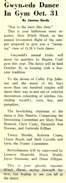 Gwyn-eds Dance In Gym Oct. 31