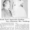 Good Taste Supersedes Fashion Says Instructor Mrs. Northrop