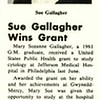 Sue Gallagher Wins Grant