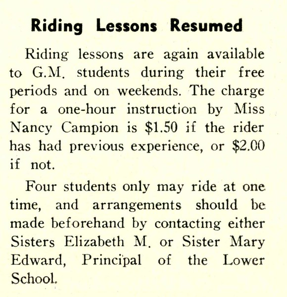 Riding Lessons Resumed