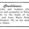 Condelences