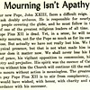 Mourning lsn't Apathy